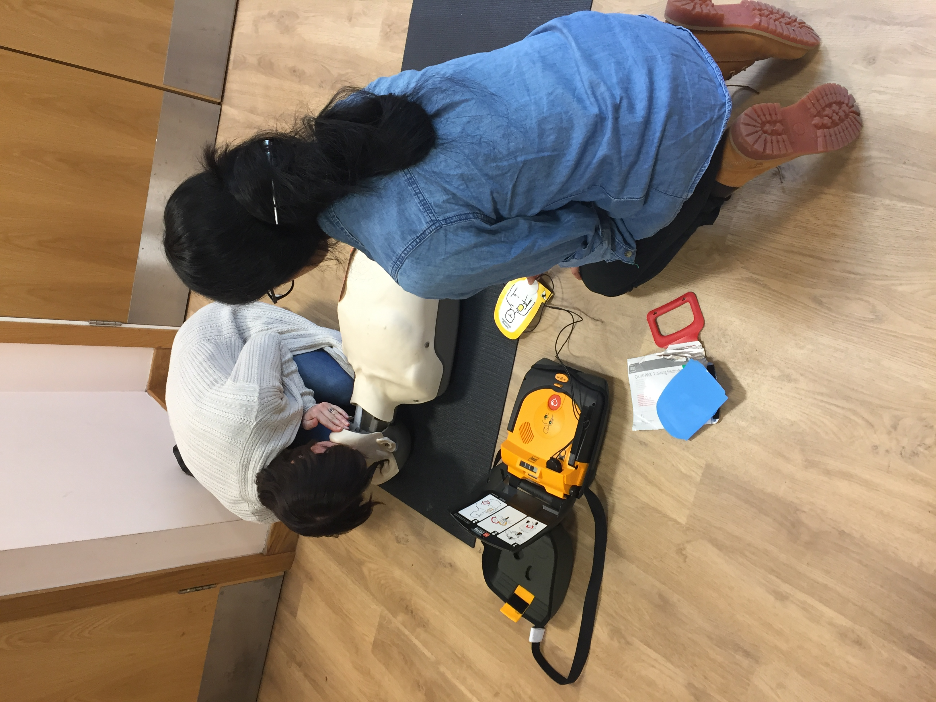 BLS and AED training