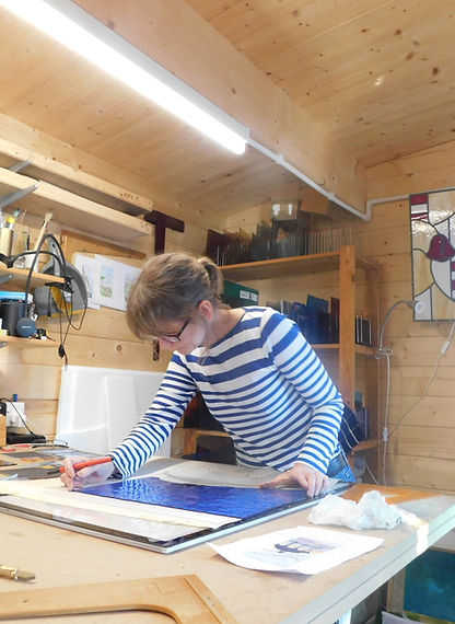 Ruth Mullan Stained Glass Artist commissions in Sussex and Brighton