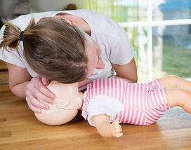 First Aid CPR on baby and child  training Burgess Hill