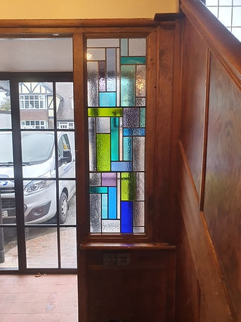 Ruth Mullan Stained Glass comissionigs in Sussex