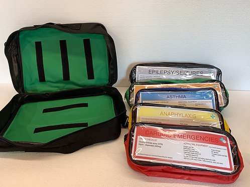 Colour coded drug kit bags (Medication not Included)