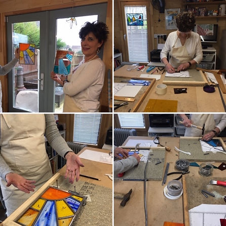 Stained glass workshop with Ruth Mullan in Sussex