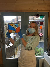 Ruth Mullan Stained Glass beginer Worksops
