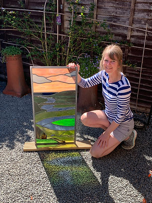 Ruth Mullan stained glass artist leaded pannels in Sussex