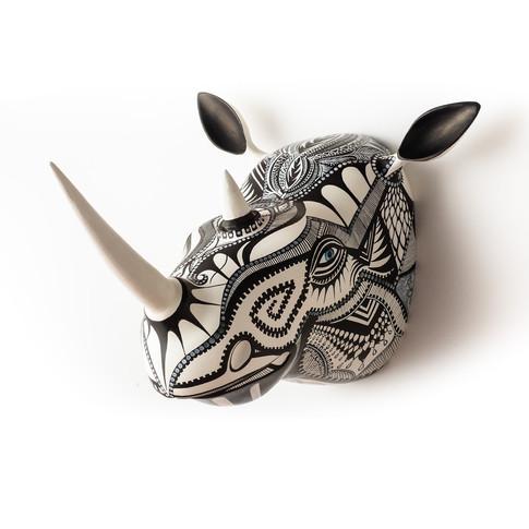 """Vegan Rhino"" Metal"