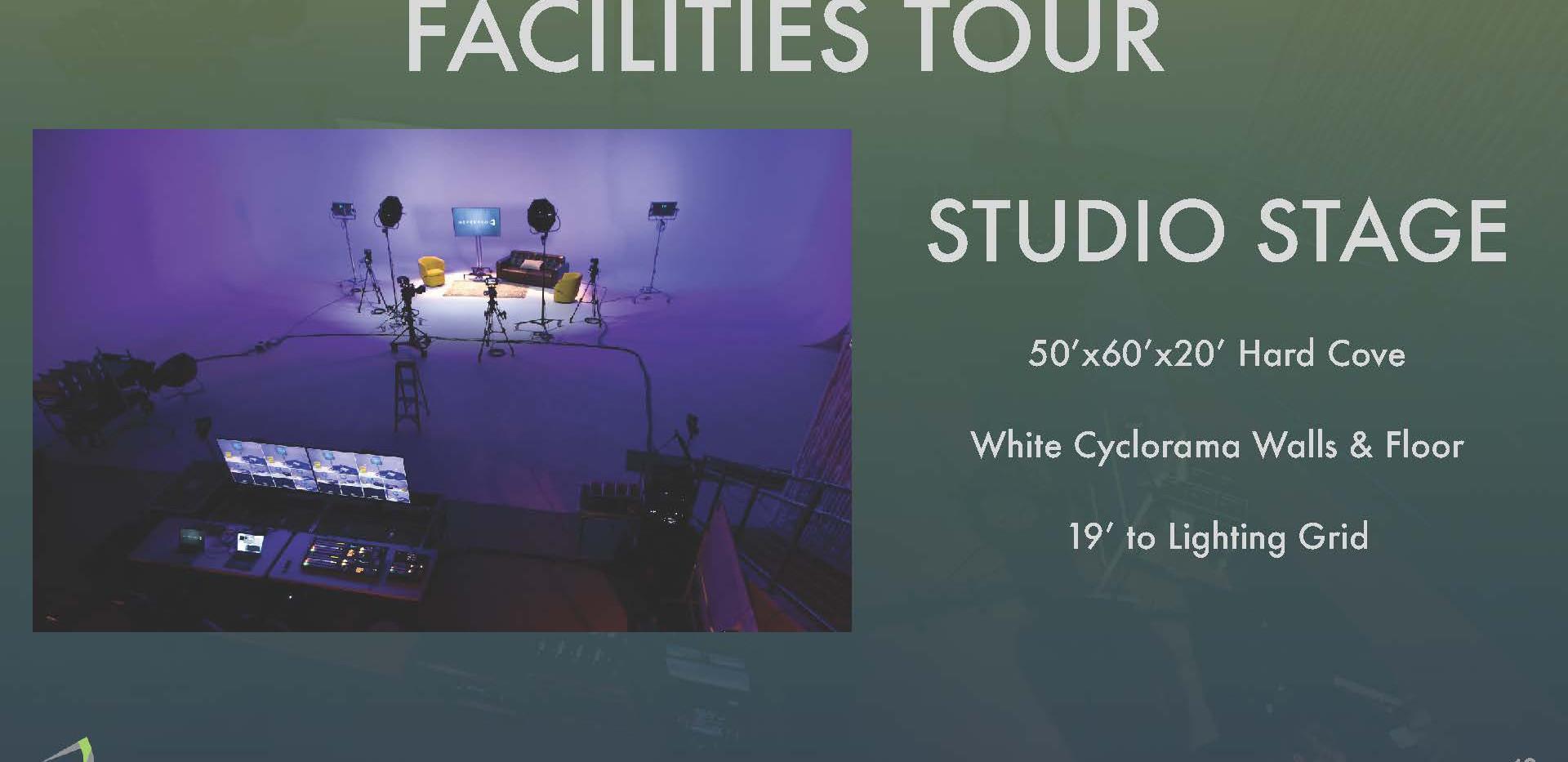Facilites Tour - Studio Stage