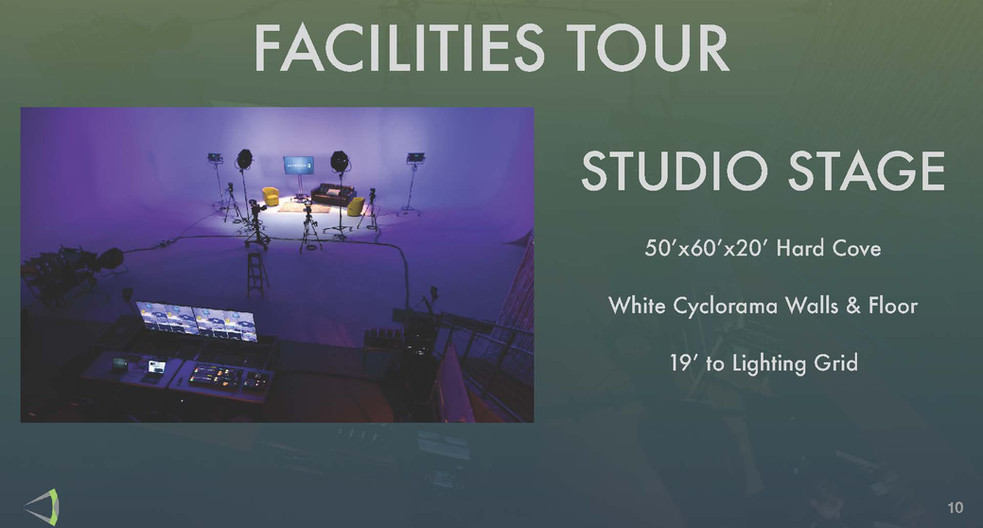 Facilites Tour - Studio Stage