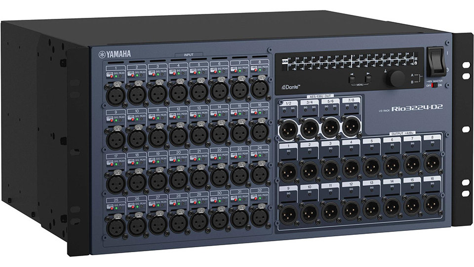 Yamaha Rio3224-D2 Rio Series 32-in/16-out Remote Stage Box