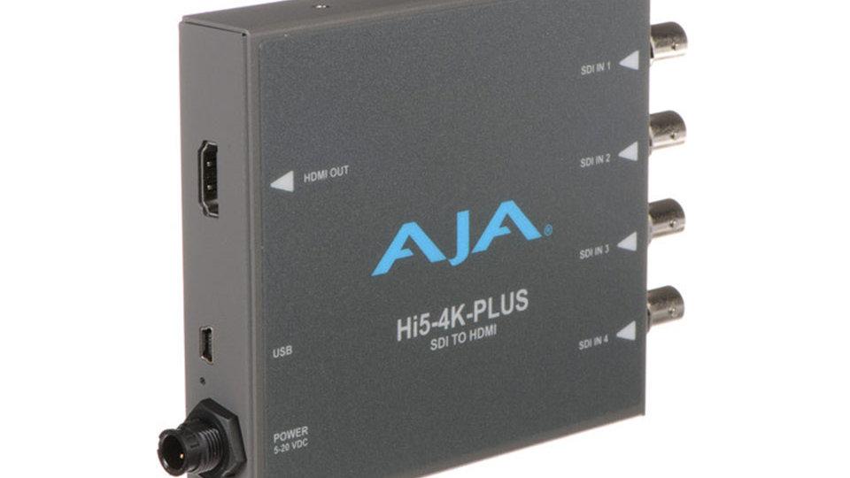 AJA Hi5-4K-Plus Quad 3G-SDI to 4K HDMI 2.0 Converter