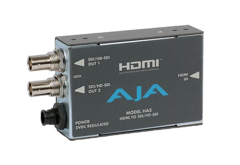 AJA Ha5 HDMI to SDI Video and Audio Converter