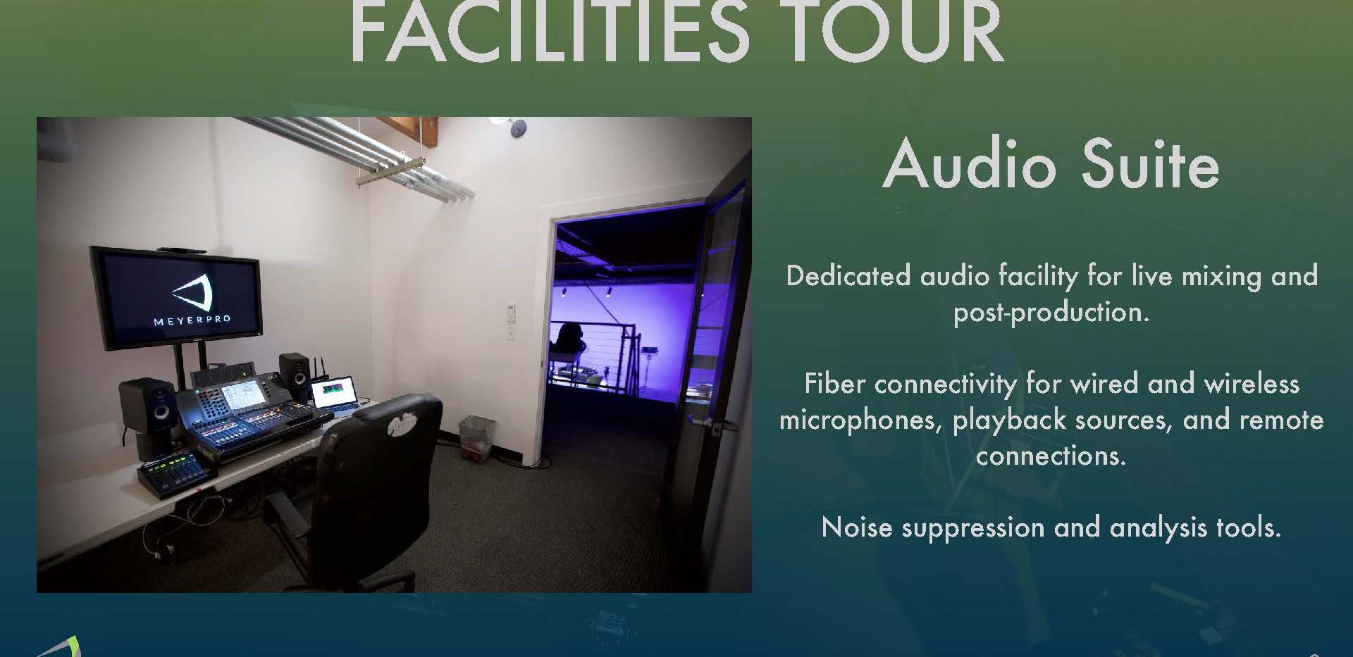 Facilites Tour - Audio Suite