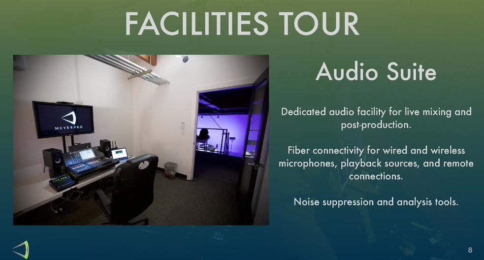 Facilites Tour - Audio Suite
