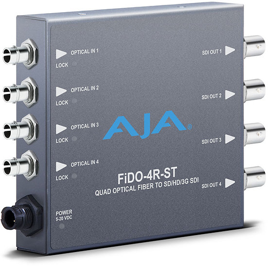 AJA FiDO Quad Channel ST Fiber to 3G SDI Mini Converter