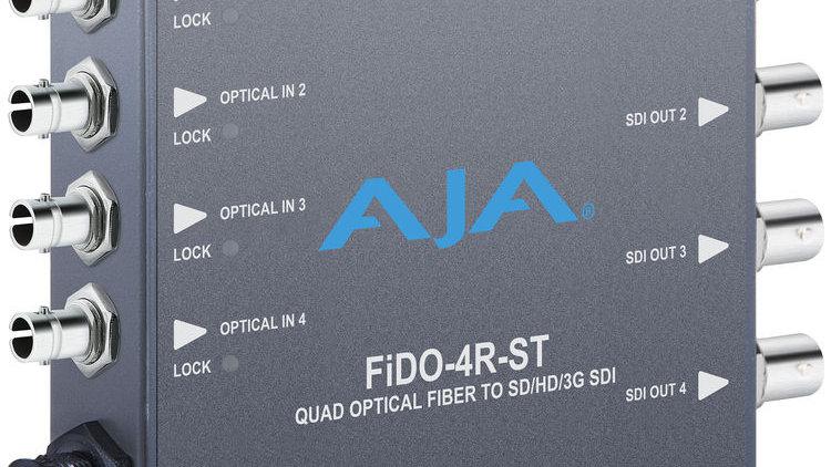 AJA FiDO Quad Channel ST Fiber to 3G SDI Mini Converter