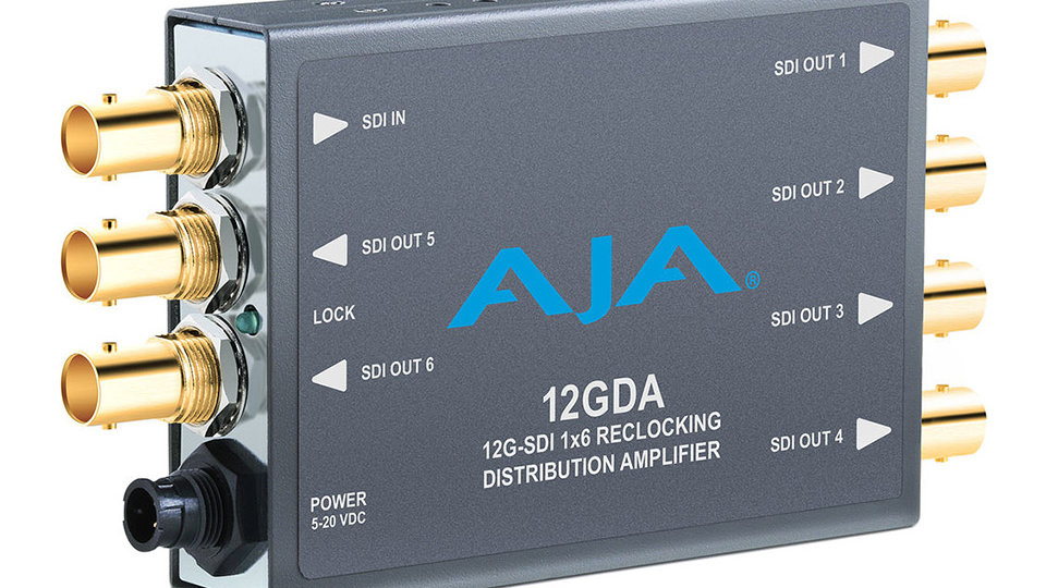 AJA 12GDA 12G-SDI 1x6 Reclocking DA