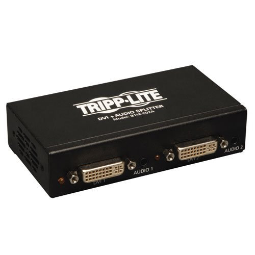 Tripp Lite 2-Port DVI Splitter with Audio