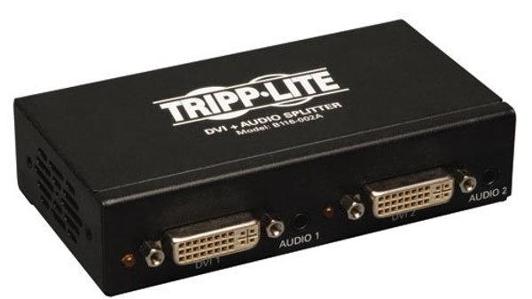 Tripp Lite 2-Port DVI Splitter with Audio