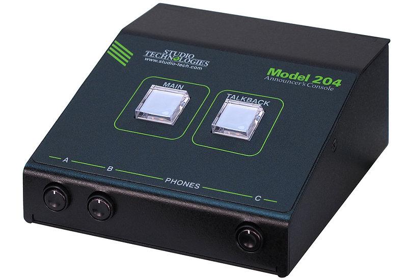 Studio Technologies Model 204 Announcer's Console