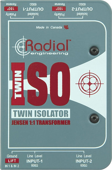 Radial TWIN ISO Passive Line-Level Isolator