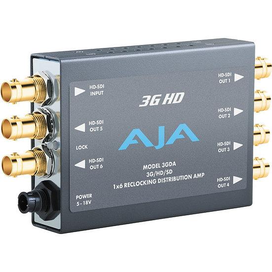 AJA 3GDA 1x6 3G/HD/SD-SDI Re-Clocking DA