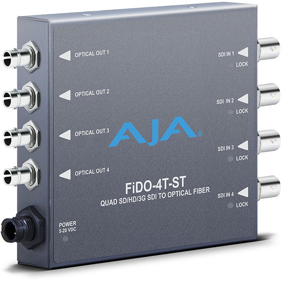 AJA FiDO Quad Channel 3G-SDI to ST Fiber Mini Converter