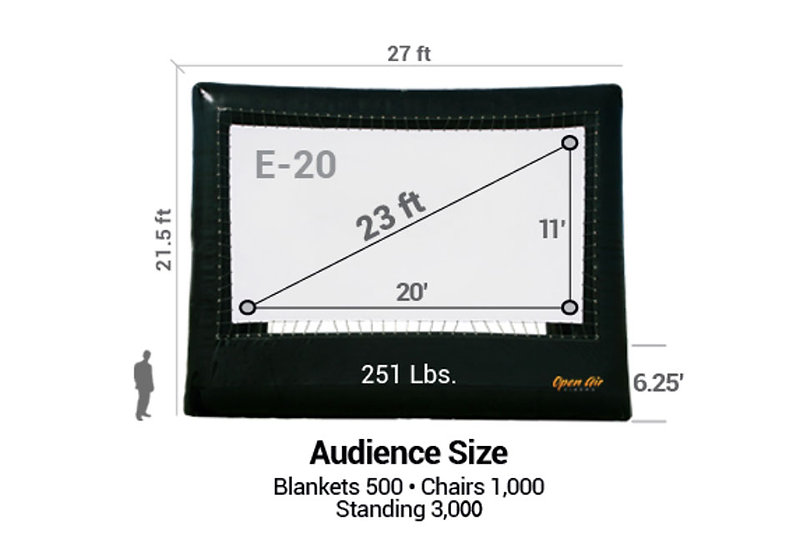 Open Air Cinema Elite 11' X 20' Inflatable Screen