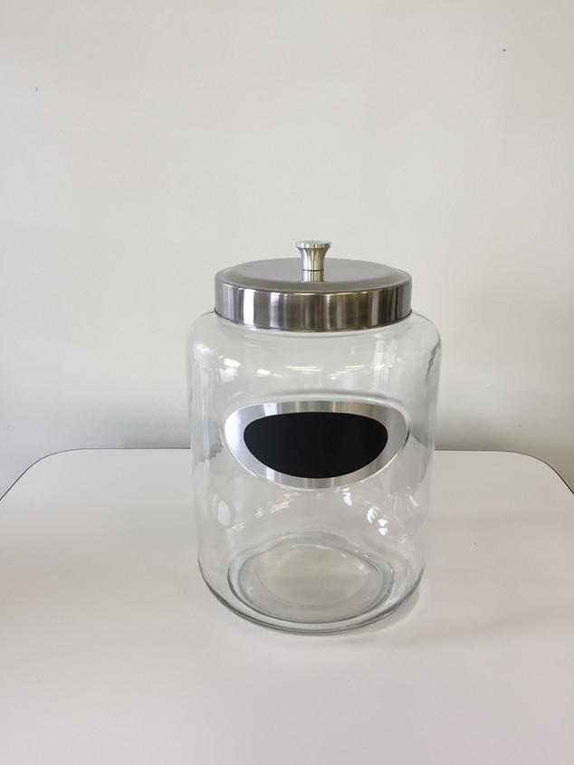 Large Glass Jar w/ Lid