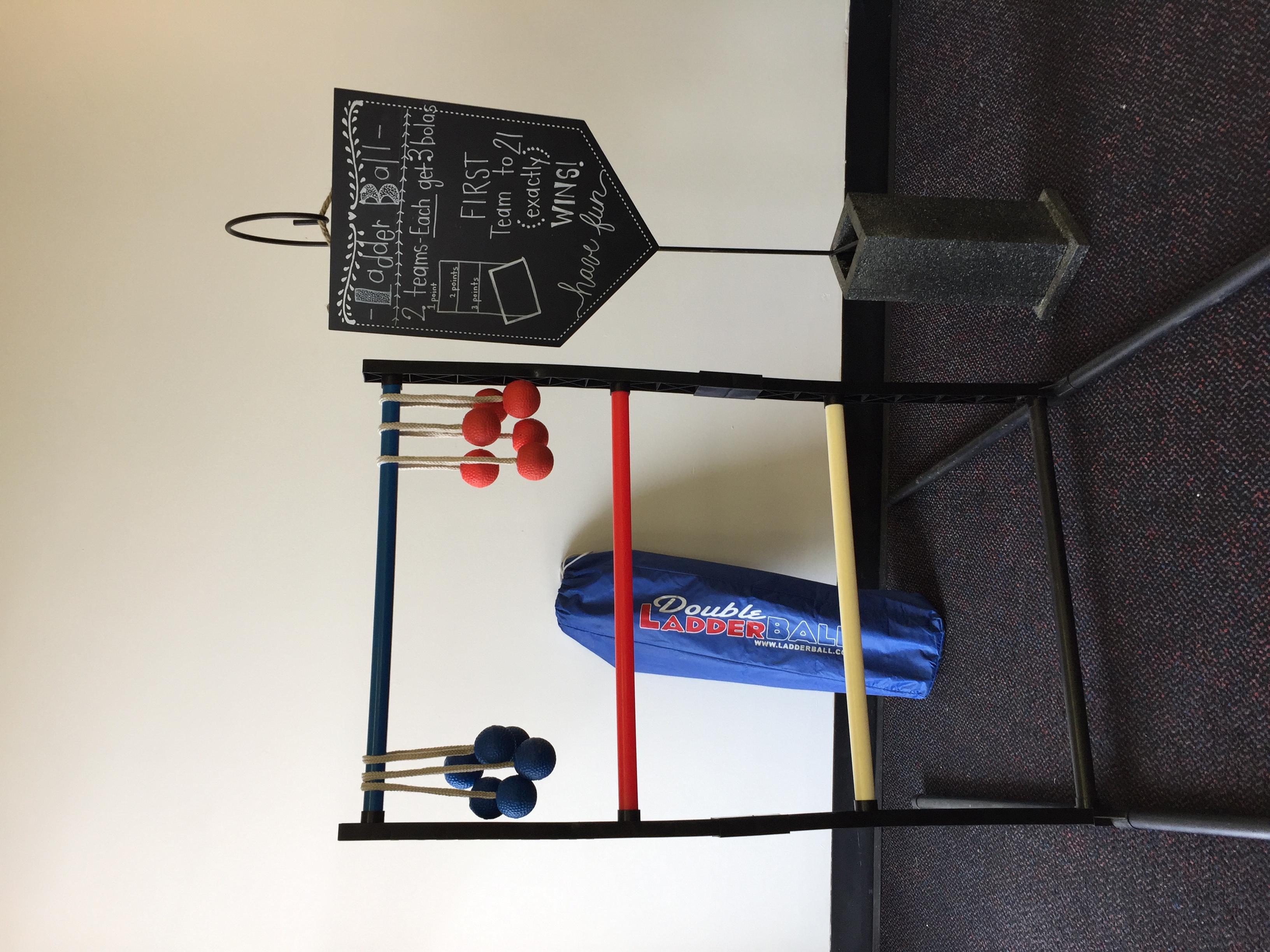 Ladderball w/ Sign