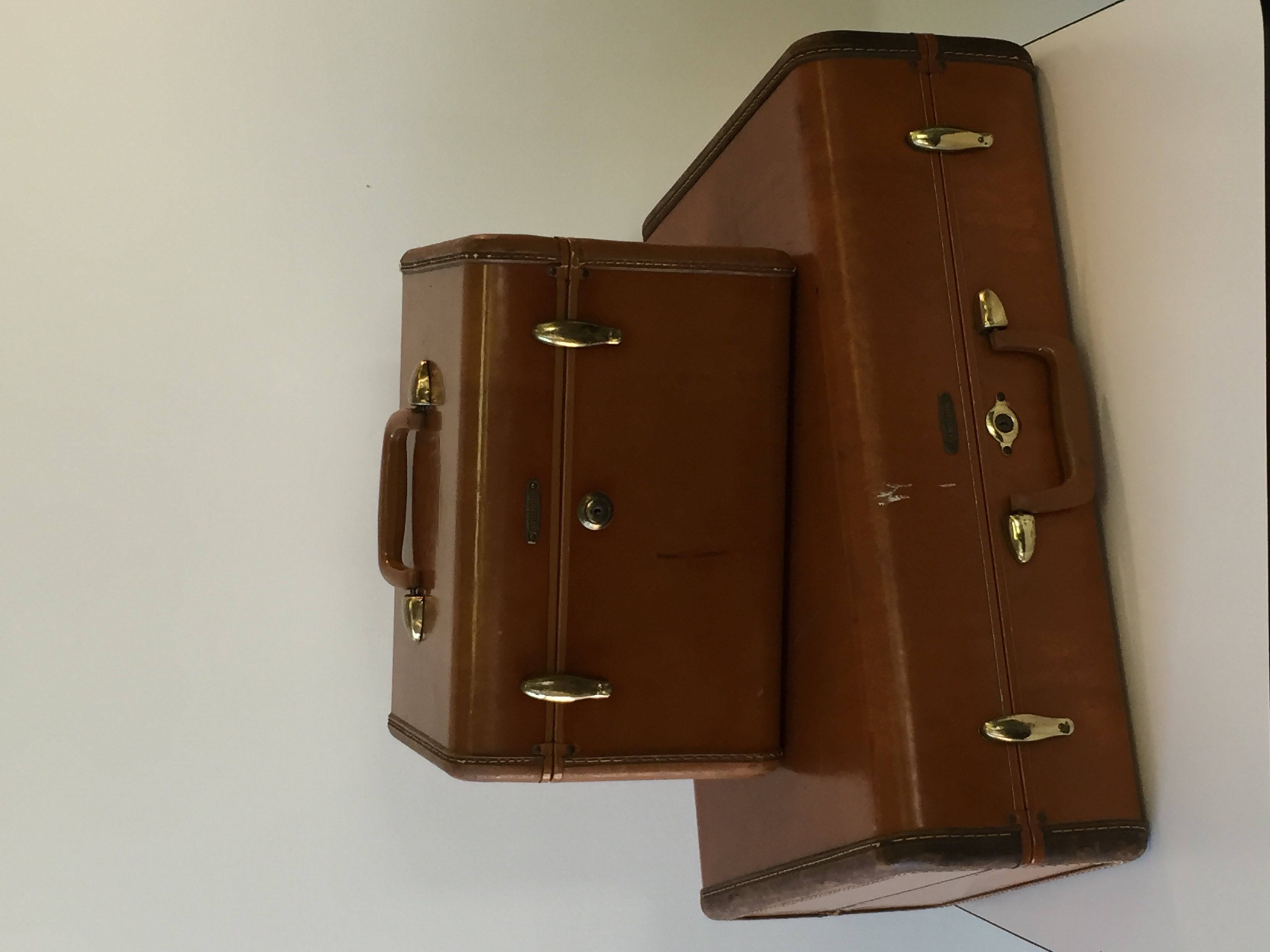 Brown Suitcase & Overnight Case
