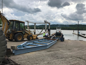 Out of the Ohio River for her Five Year Hull Inspection