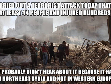 ISIS terrorist attack in North East Syria kill at least 44 people and injures hundreds.