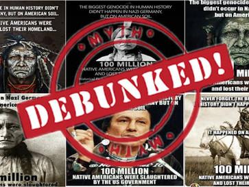 'Americans' didn't 'murder 100 million Native Americans', diseases did.