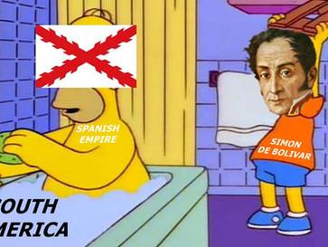 Simon Bolivar - the liberator of Latin America.