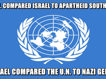 UN Under-Secretary General Rima Khalaf was forced to resign after her UN report compared Israel to A