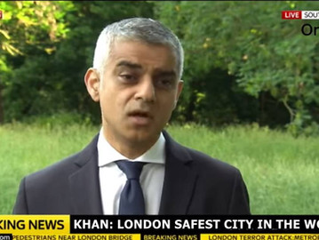 Sadiq Khan, London's mayor, says London is 'the safest global city in the world'.