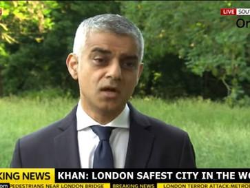 Sadiq Khan, London's mayor, says London is 'the safest global city in the world'.