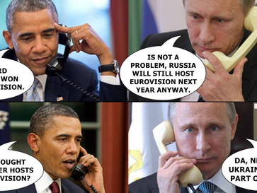Putin's reaction to Ukraine's win.