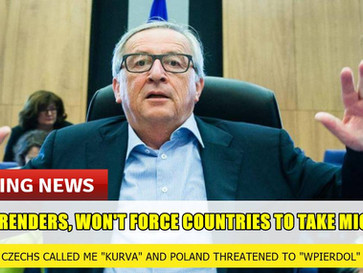 EU surrenders, will not force countries to take migrants.