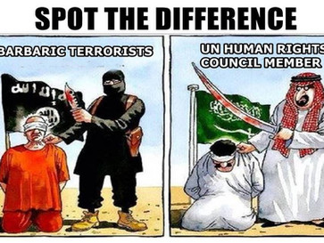 UN human rights council member Saudi Arabia beheads 37 people.