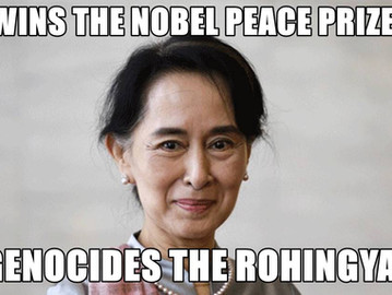 Aung San Suu Kyi and Burma's ongoing genocide against the Rohingya.