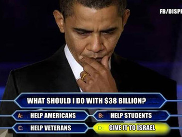 """The real reason why the US gives Israel $3.8 billion a year as military """"aid""""."""
