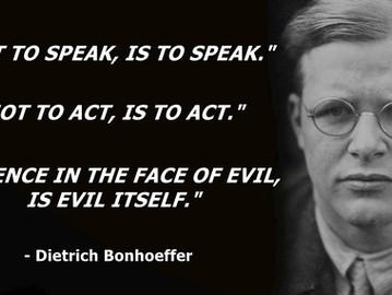 Dietrich Bonhoeffer, the German anti Nazi martyr.