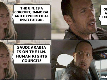 Saudi Arabia, unbelievably, is a key member of the UN's human rights council.