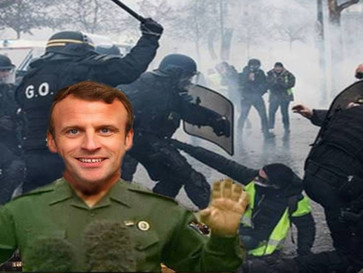 How the media helps the Macron regime hide its brutality against French people.