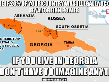 The world forgot about the ongoing Russian occupation of Georgia.