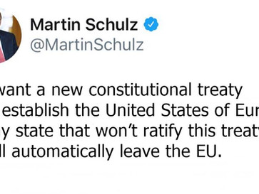 Germany's top politician threatens EU members who refuse to join an EU superstate.