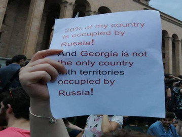Hundreds of Georgians injured in protests against the Russian occupation