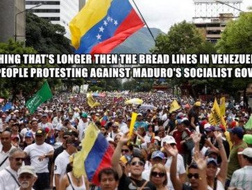 Starving and desperate venezuelans take to the streets in protest against Maduro's socialist Gov