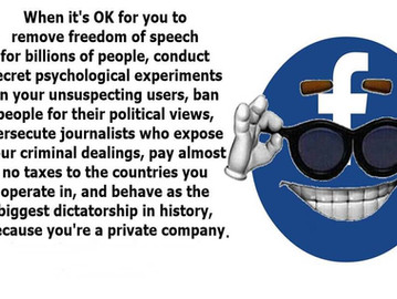 Debunking the excuse that 'FB is a private company so it can do whatever it wants'.