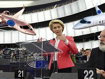 EU declares 'Climate emergency' after  increasing private jets budget for EU officials by ov